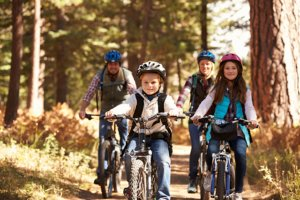 Family biking on Gainesville nature trails