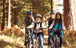 Family biking on Gainesville nature trails
