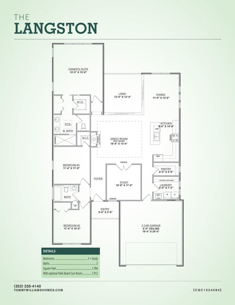 The Langston Floor Plan Custom Home in Gainesville
