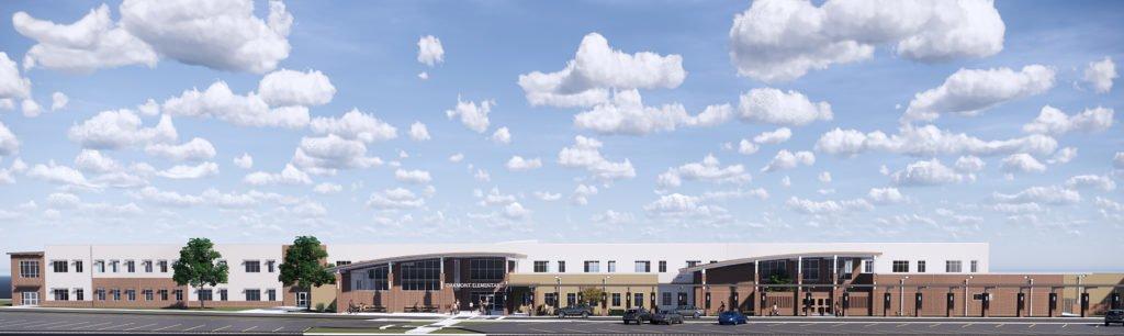 Elementary School I West Elevation Rendering
