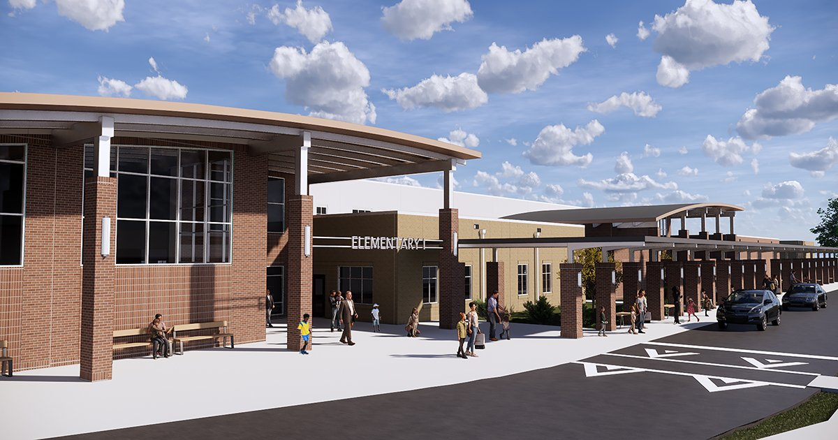 Elementary School I Entrance Rendering